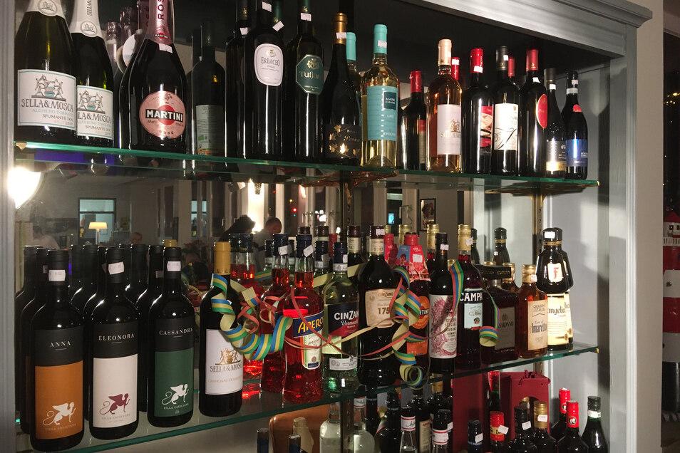 Seinen Lieblingswein aus dem Sommerurlaub in Sardinien kann man hier sicherlich finden.