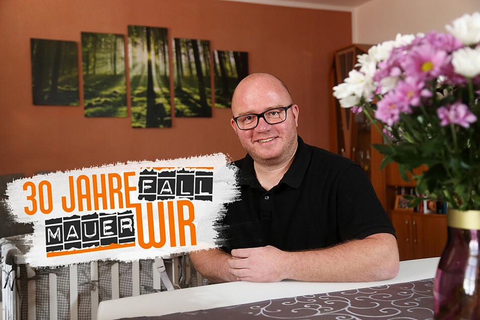 Marcus Schubert hat in seiner Heimatstadt Riesa sein Glück gefunden: Der 38-Jährige ging einst für die Arbeit nach Baden-Württemberg.