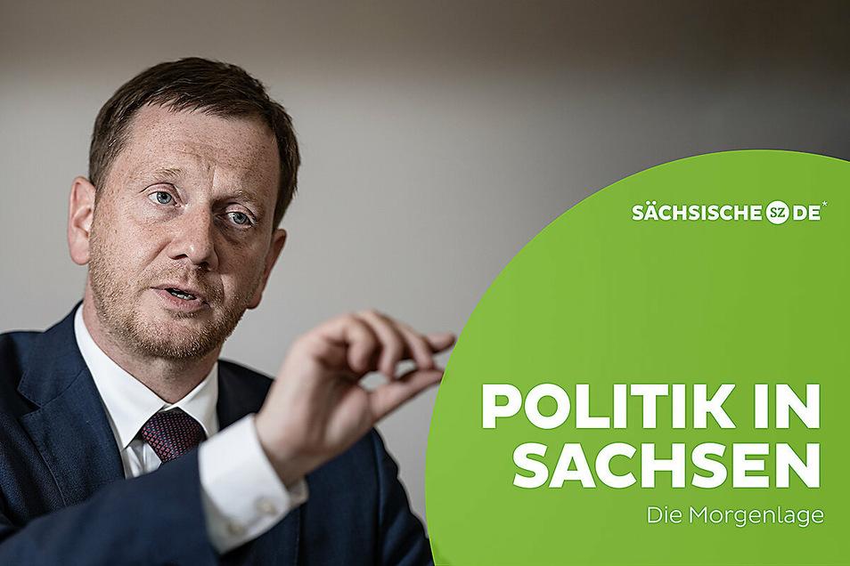 Michael Kretschmer ist im Wahlkampf angekommen.