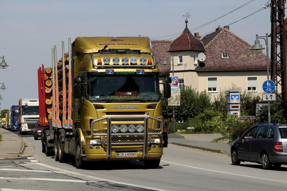 Wird Kodersdorf bald die Verkehrsbelastung auf der B115 los? Mithilfe von Kohlemillionen könnte es mit dem Bau der Umgehungsstraße klappen.
