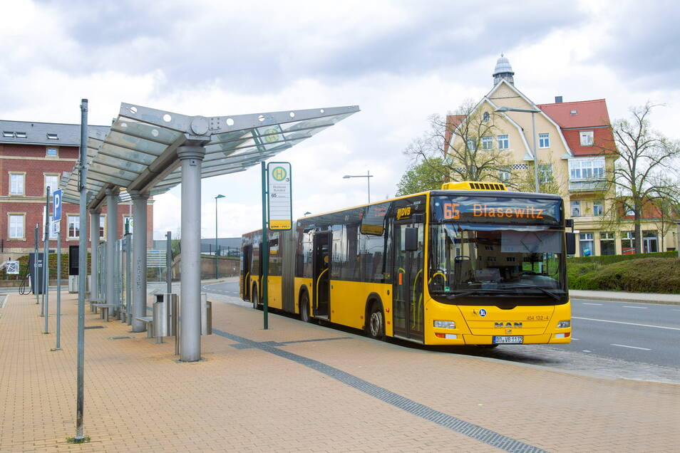 Wer in Heidenau in die Busse der Linien 65 oder 86 fährt, muss sich vorher um einen Fahrschein kümmern.