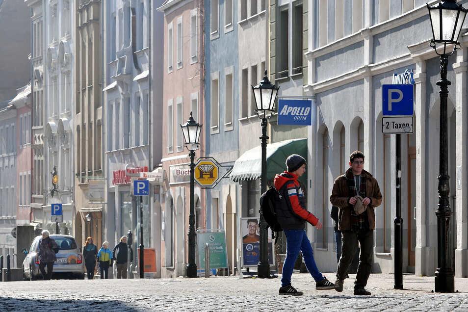 Teile der Löbauer Innenstadt - darunter auch die Innere Zittauer Straße - haben derzeit kein Straßenlicht.