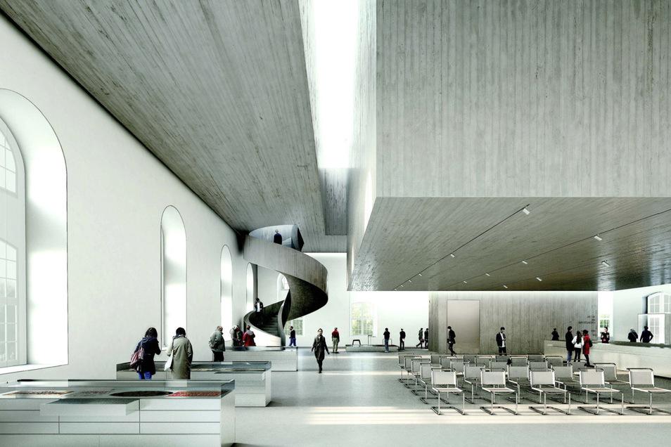 Zum Inneren des BLockhauses wurde ein Architekturwettbewerb ausgerufen. Das sind die Gewinner: 1. Preis Nieto Sobejano Arquitectos, Madrid/Berlin