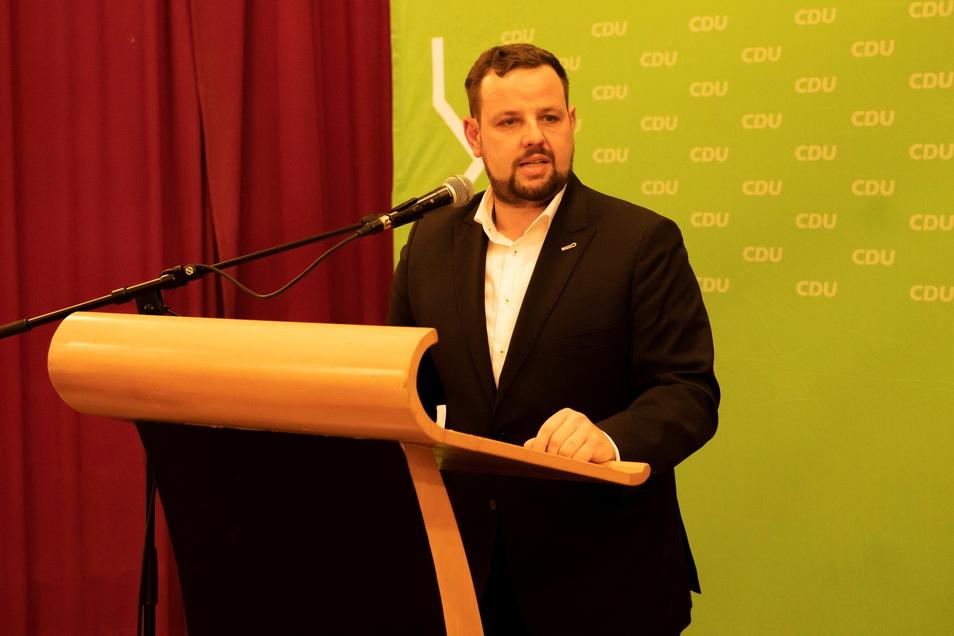 Als Direktkandidat der CDU für den Bundestag gewählt: Der Meißner CDU-Kreisvorsitzende Sebastian Fischer. Er muss das Direktmandat gewinnen, über die Liste seiner Partei kommt er nicht in den Bundestag.