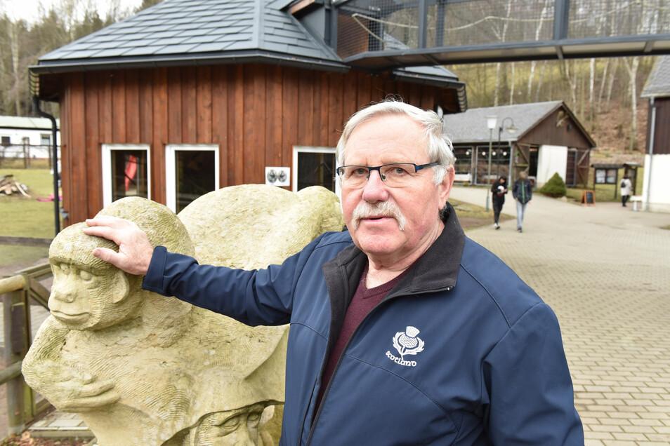 Wildparkleiter Frank Gössel kann derzeit keine Einblicke in die Tierwelt gewähren.