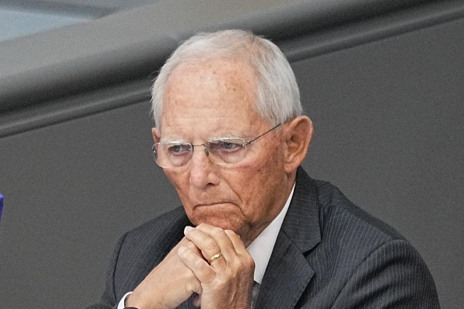 Wolfgang Schäuble (CDU) ist ehemaliger Bundesfinanzminister und derzeit Bundestagspräsident.