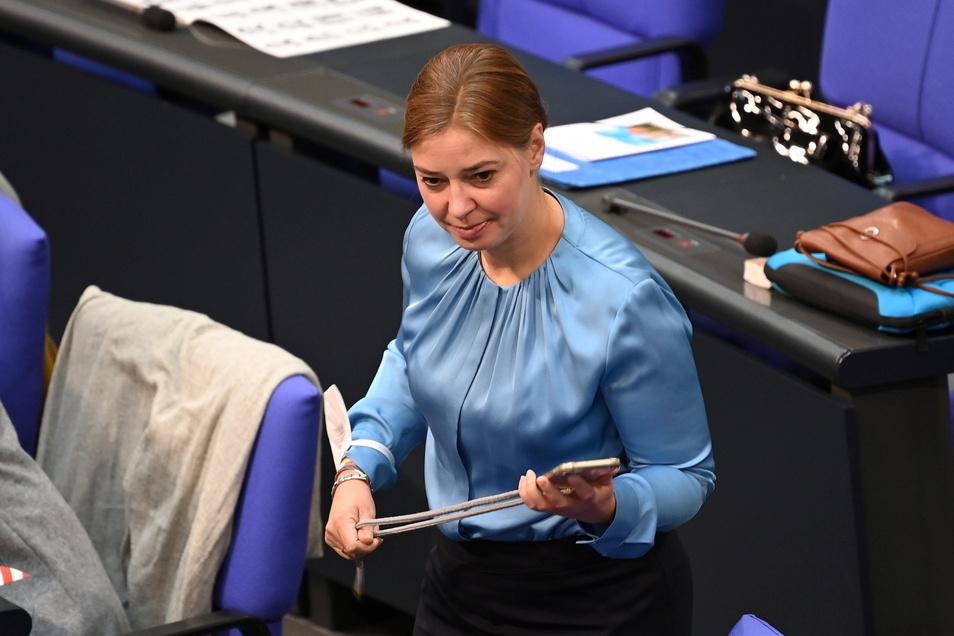 Yvonne Magwas (CDU) aus dem Vogtland wurde zur Bundestagsvizepräsidentin gewählt.