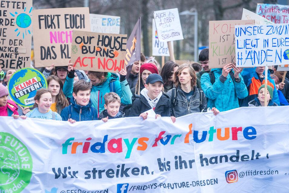 Am Freitag wollen Dresdner Schüler wieder auf die Straße gehen.