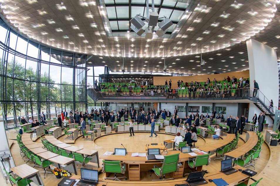 Der sächsische Landtag.
