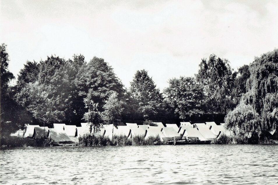 Im Jahr 1965 begann in Zelten der Jugendherbergsbetrieb in Falkenhain