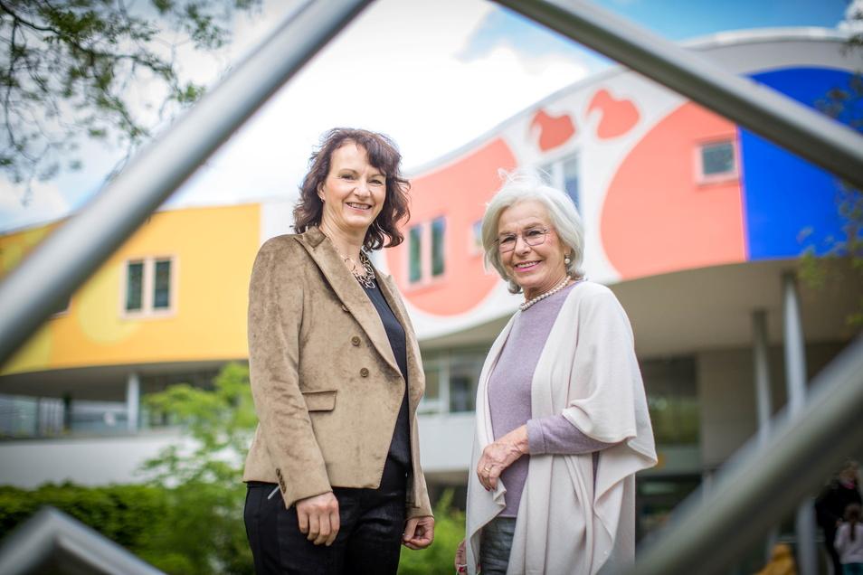 Ursula Herrmann (r.) und Cornelia Bohn sind Botschafterinnen des Sonnenstrahl e.V. und sitzen im Kuratorium. Ihnen kam die zündende Spenden-Idee.