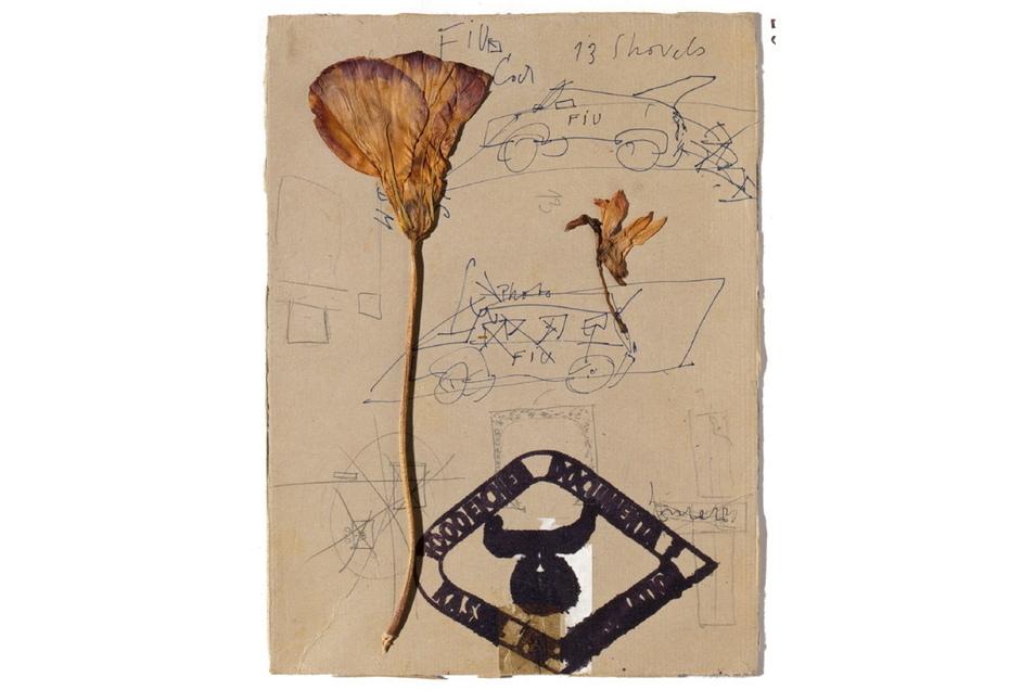 """Ein Blatt aus dem Fundus der Familie Beuys, das Joseph Beuys weder betitelte noch datierte. Zu sehen in der Schau """"Linie zu Linie, Blatt um Blatt"""" im Kupferstich-Kabinett."""