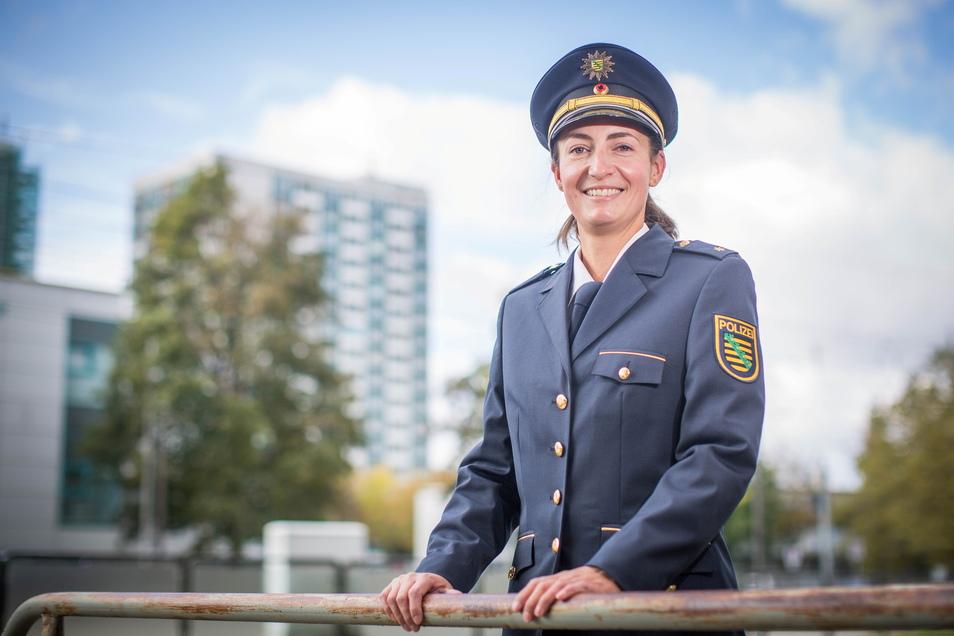 Maria Meißner ist künftig für zahlreiche Brennpunkte im Gebiet des Polizeireviers Dresden-West verantwortlich.
