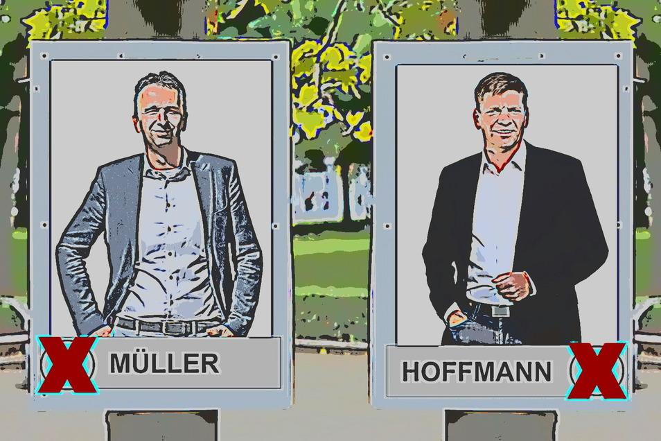 Wie viele Plakate darf welcher der beiden Riesaer OB-Bewerber aufhängen? Die Stadtverwaltung hat das mit einer Entscheidung beantwortet, die nicht jedem schmeckt.