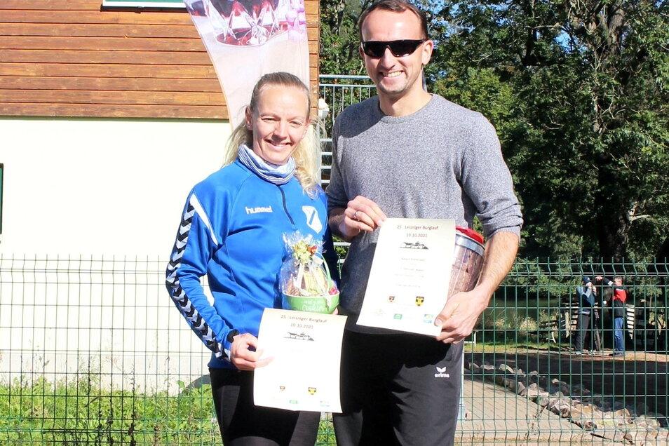 Die Sieger über 4 Kilometer waren Stefanie Reiche (SV Leisnig 90) und Robert Kretschmer(SV Soltronic).