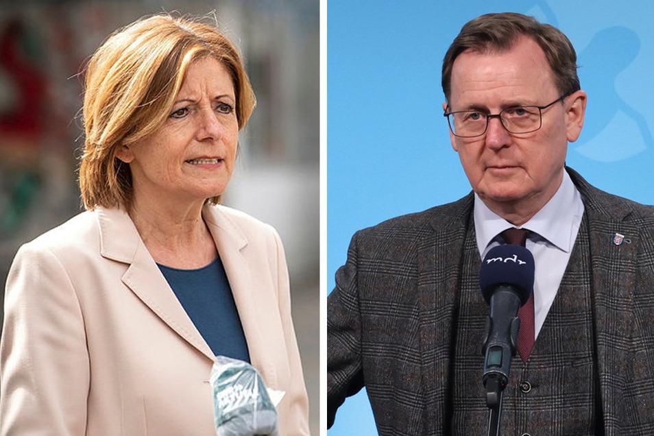 Die rheinland-pfälzische Ministerpräsidentin Malu Dreyer (SPD) und Thüringens Linke-Regierungschef Bodo Ramelow.