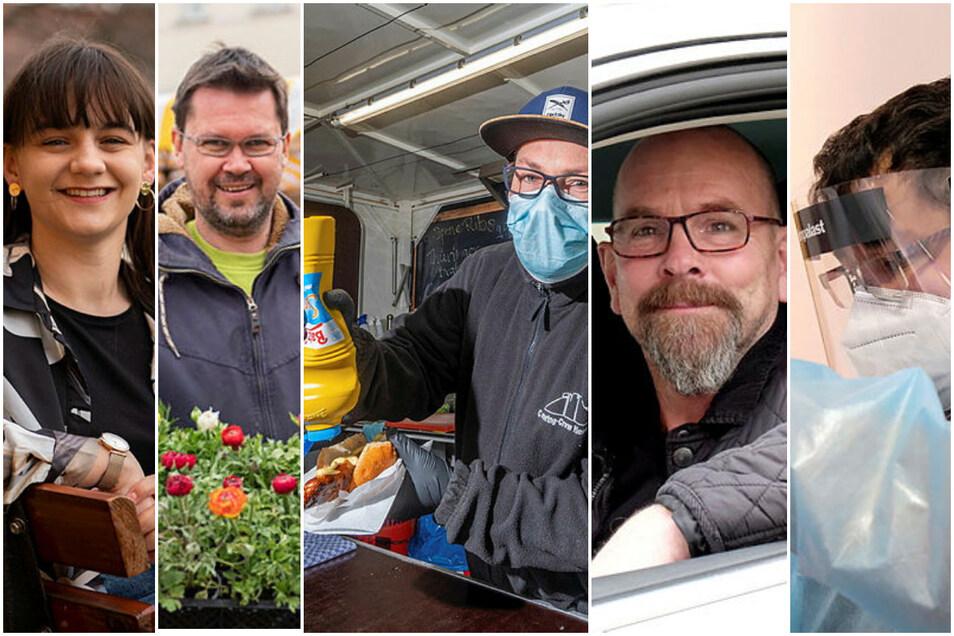 Die Arbeit dieser fünf Menschen aus dem Landkreis Meißen hat sich während des Lockdowns ganz schön gewandelt.