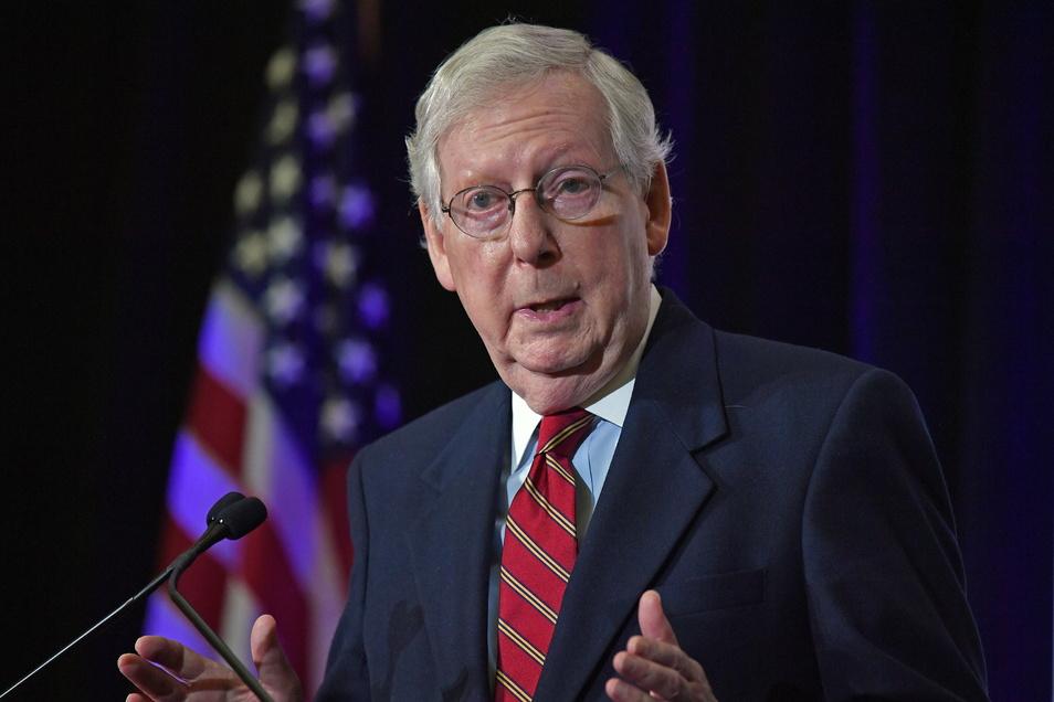 Mitch McConnell, republikanischer Senator aus Kentucky und Mehrheitsführer im Senat.