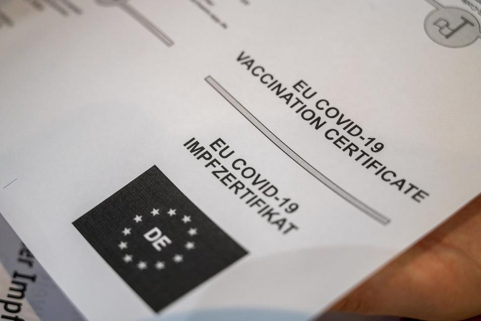Das Dokument, das zum Digitalen EU-Impfnachweis gehört.