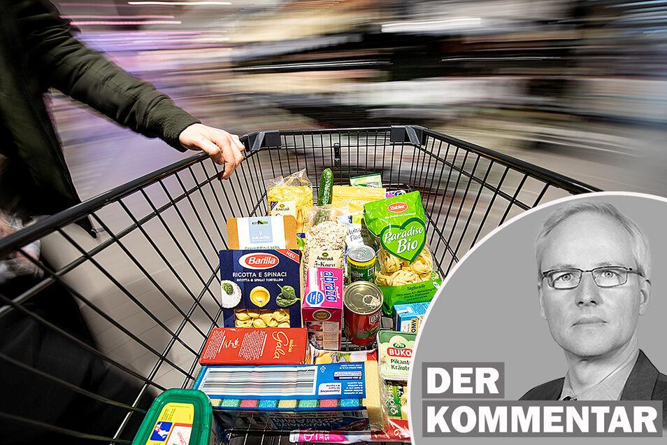 Teuerung in Sachsen: Ein typischer Warenkorb kostet jetzt 1,3 Prozent mehr als vor einem Jahr.