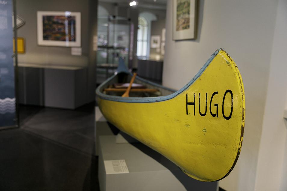 Schon vor 100 Jahren wurde an der Neiße Wassersport getrieben. Der gelbe Kanadier aus den 1920er Jahren wurde vom NSV Gelb-Weiß Görlitz saniert und dient den Kanusportlern heute als Spiel- und Paddelboot.