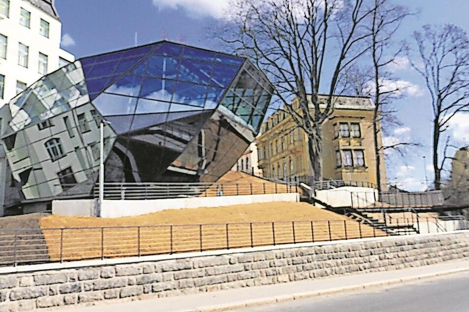 Im tschechischen Jablonec wurde ein Glaskristall nach den Plänen des Prager Architektenbüros Hlavácek gebaut. Er wird auch für Besucher geöffnet.