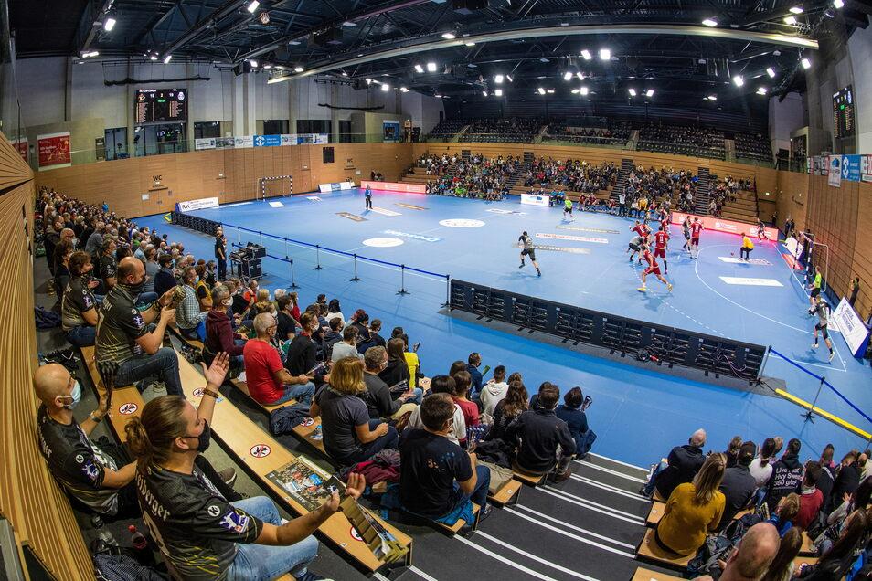 So sah das letzte Spiel vor Zuschauern des HC Elbflorenz am 1. November 2020 aus.