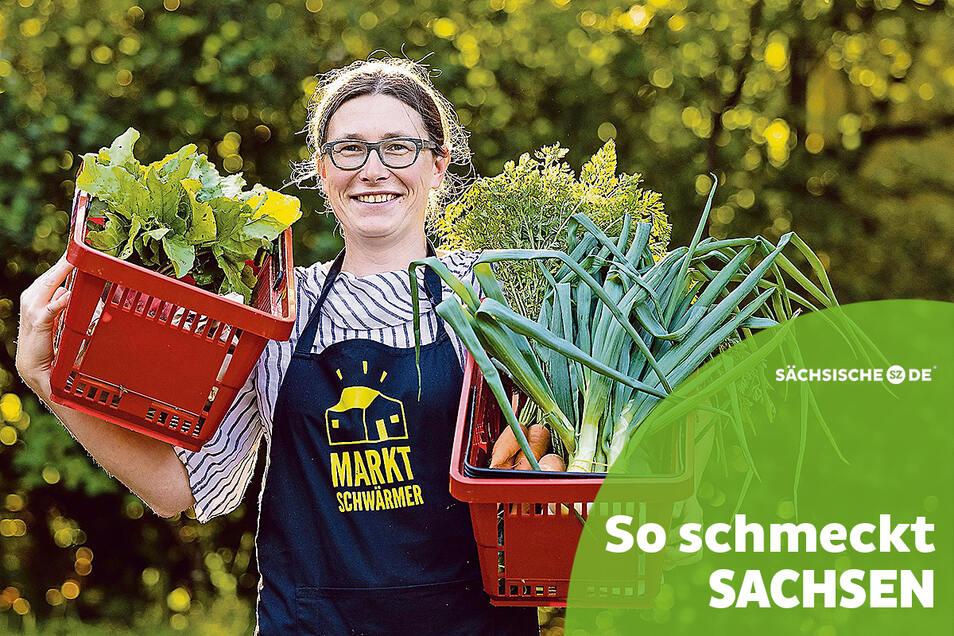Anne Ritter aus Melaune hat die Marktschwärmerei in Görlitz aufgebaut. Dort gibt es frische regionale Produkte, vor allem aus der Oberlausitz.