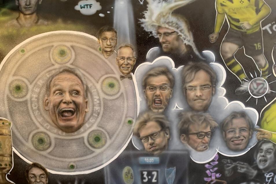 Die vielen Gesichter des Jürgen Klopp - beobachtet von dessem früheren BVB-Chef Hans-Joachim Watzke.