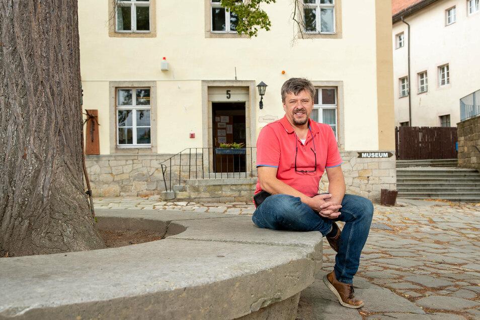 Profitiert vom Wandertourismus: André Häntzschel, Geschäftsführer der Burg Hohnstein Betriebsgesellschaft.
