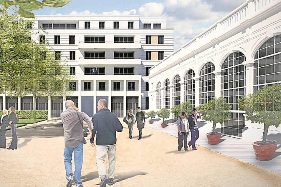 An der Herzogin Garten Der Investor Reinhard Saal will ab Herbst auf dem etwa 1,4 Hektar großen Gelände einen sechsgeschossigen Komplex mit etwa 100 Wohnungen für etwa 30 Millionen Euro errichten.