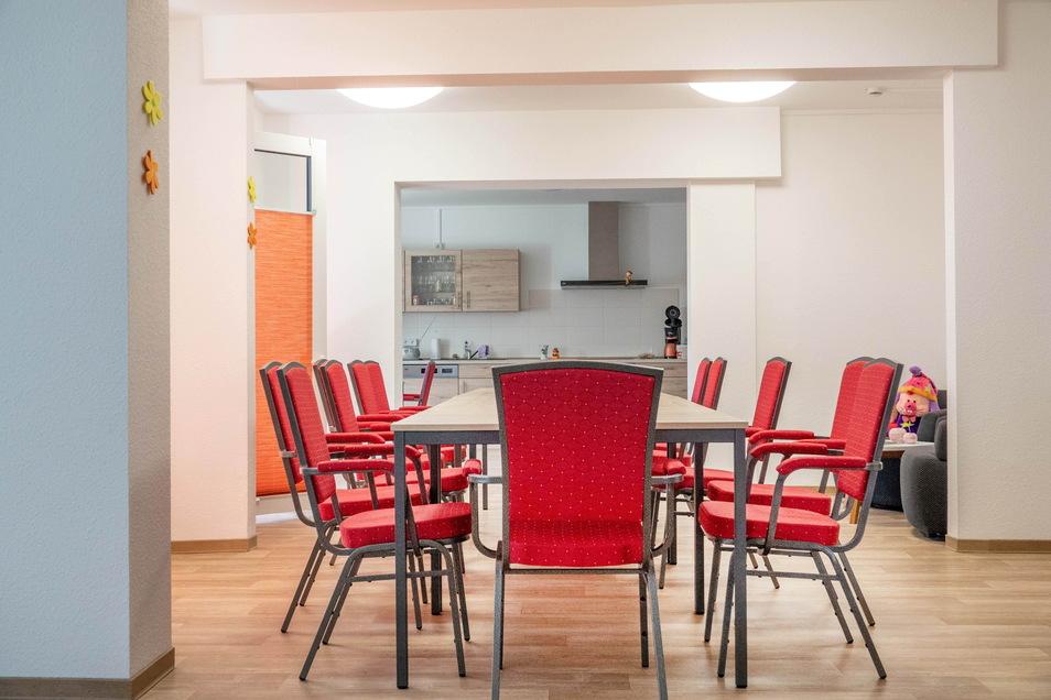 Platz für Gemeinschaft: Im Erdgeschoss gibt es Räumlichkeiten, in denen Bewohner zusammen kochen oder sich unterhalten können.