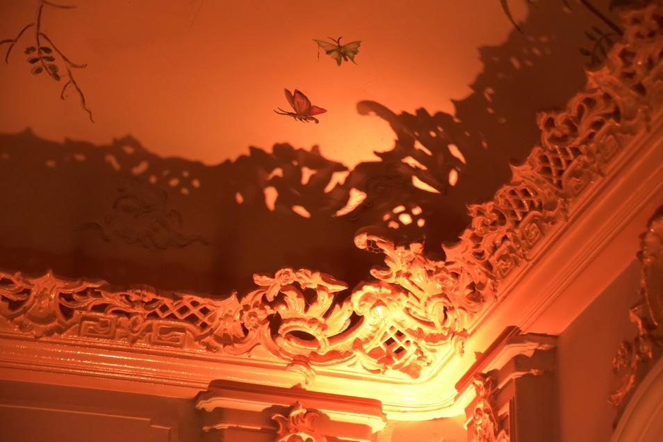 Die Deckenmalerei in der Ming-Lounge soll erhalten werden.