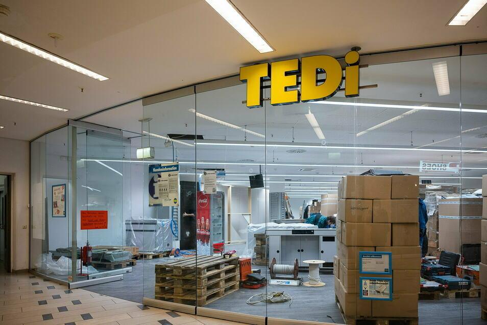Die Tedi Filiale im City Center Görlitz wird umgebaut.