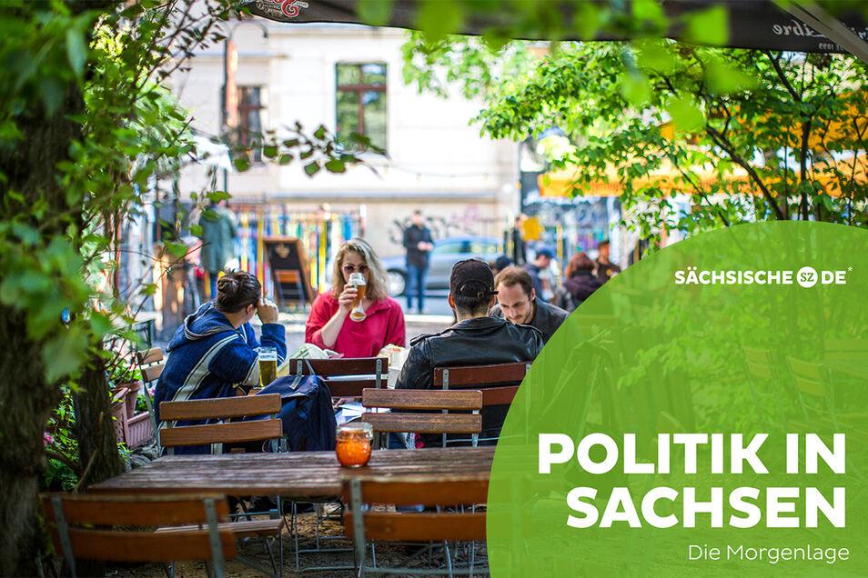 Biergärten können über Pfingsten in weiteren Regionen Sachsen öffnen.