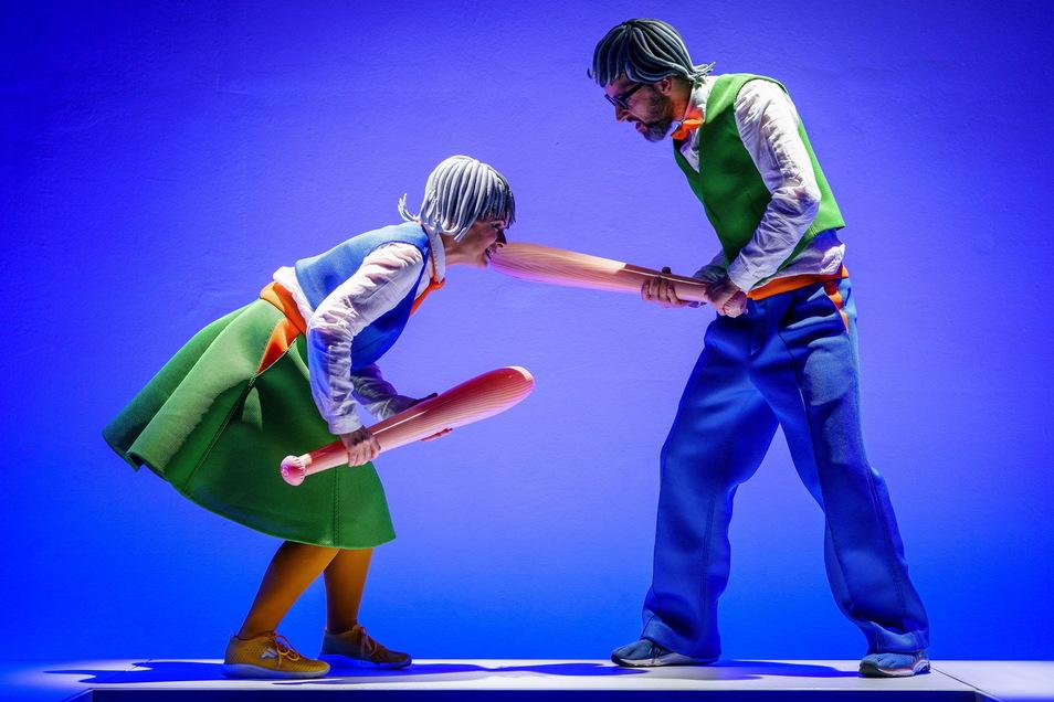 Kathleen Gaube und Oliver Seidel im Societaetstheater.