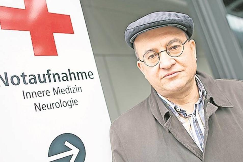 Arnold Vaatz besuchte am Sonnabend die Ukrainer in den Kliniken.