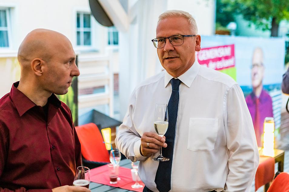 Sekt statt Selters: Nachdem die Ergebnisse feststanden, konnte sich Torsten Ruban-Zeh am Sonntagabend durchaus ein Glas gönnen.