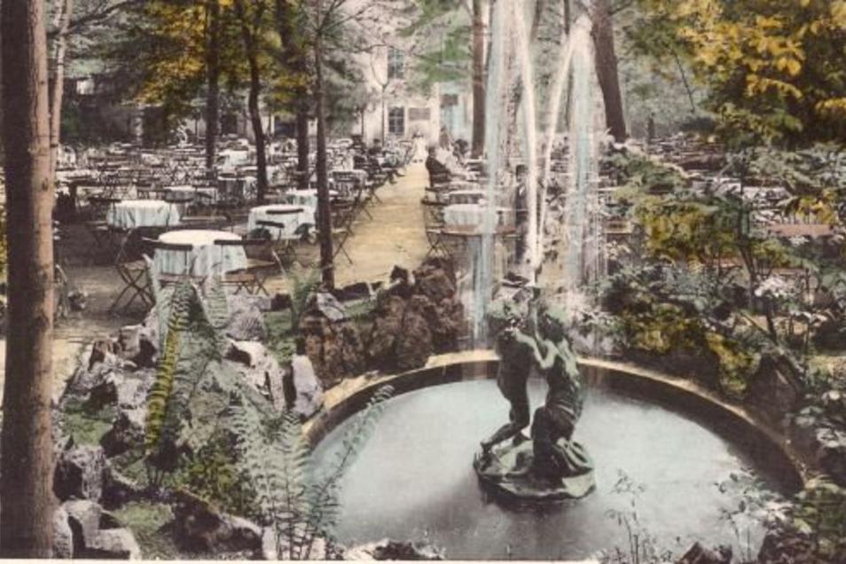 Gartenansicht der Potschappler Steigergaststätte von 1925.
