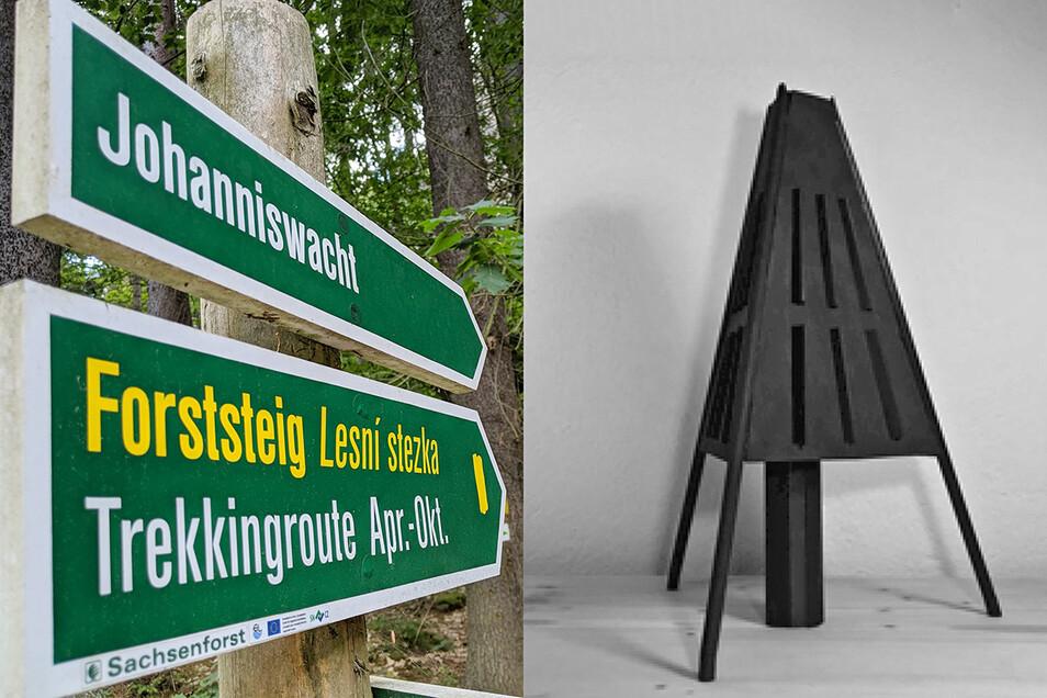 """Wandern und Übernachten am Forststeig Elbsandstein. In einem """"Kokon"""" wie diesem soll das bald möglich sein."""