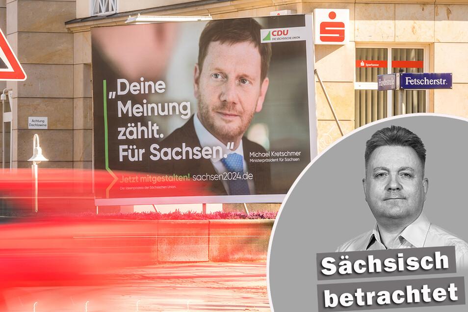 Der neue Kurs der sächsischen CDU: Jeder Bürger bekommt zu hören, was er gern hören will. Foto: Ronald Bonß