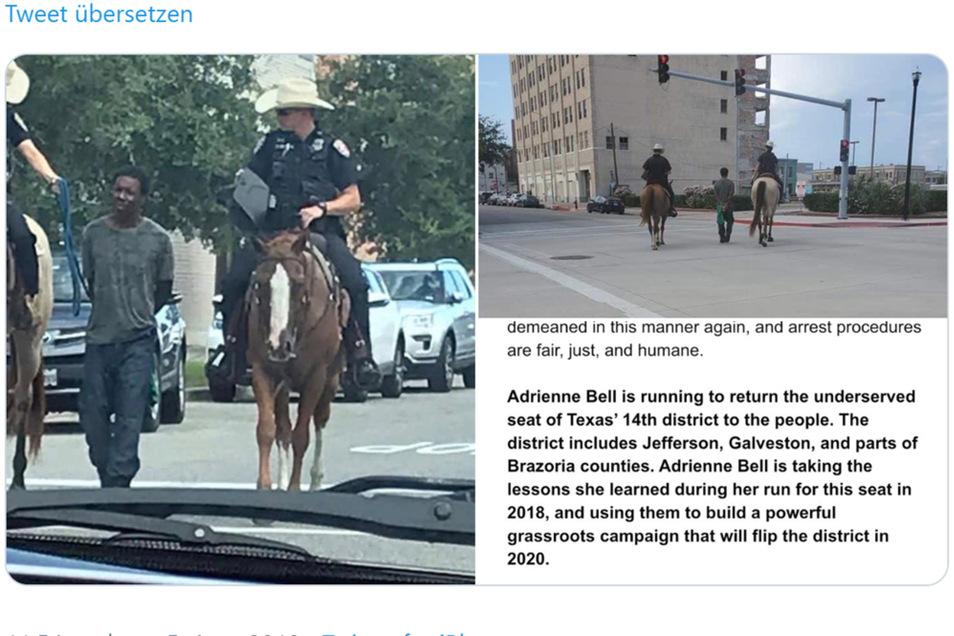 Eine Festnahme in Texas löst heftige Kritik aus.