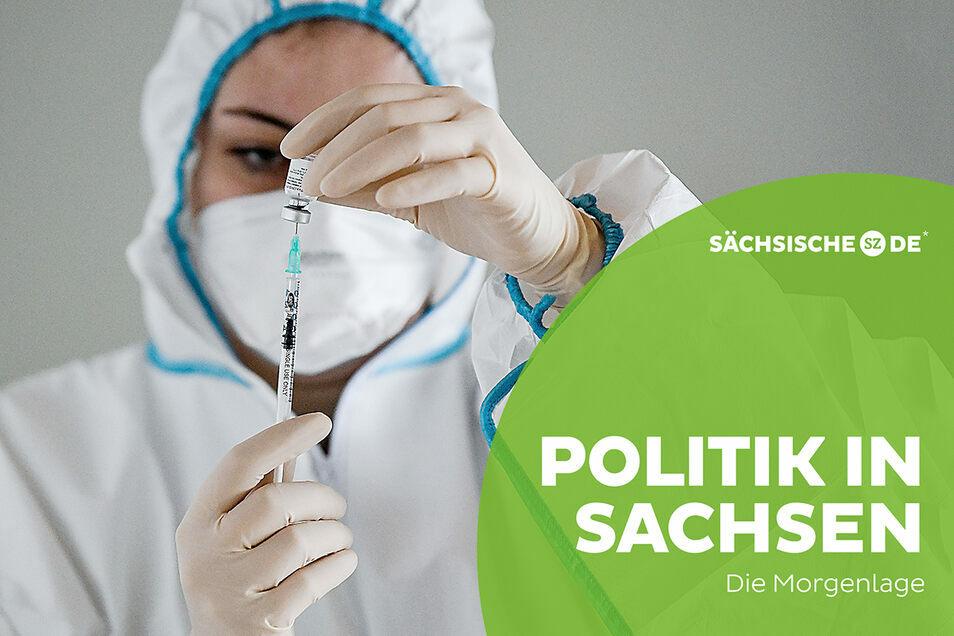 Bundesweit sind in Sachsen, im Verhältnis zu den Einwohnern, am wenigsten Menschen geimpft.