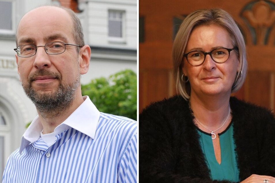 Stadtrat Thomas Göttsberger und Bürgermeisterin Marion Prange (parteilos) sind schon öfter aneinander geraten. Schon wiederholt kreuzten sie auch vor Gericht die Klingen.