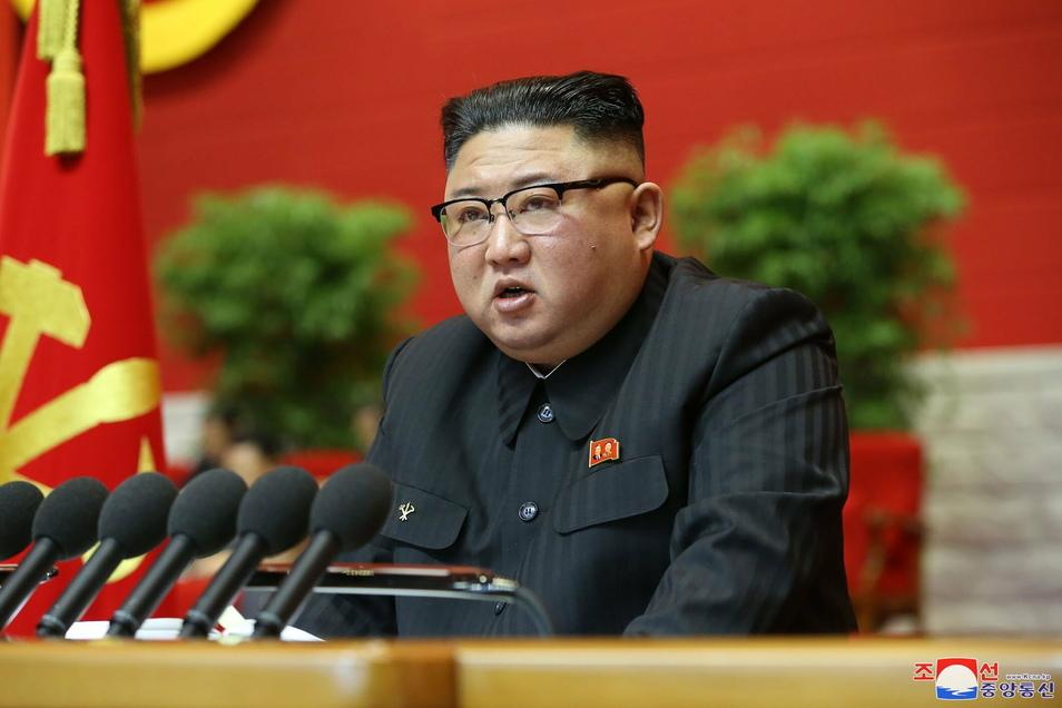 Kim Jong Un, Machthaber von Nordkorea, bei dem Kongress.
