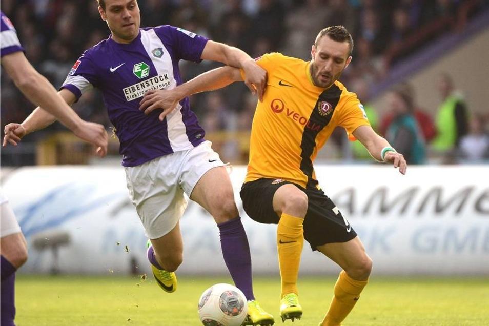 Der FC Erzgebirge Aue hat  am Donnerstag mit 2:0 gegen Dynamo Dresden gewonnen.