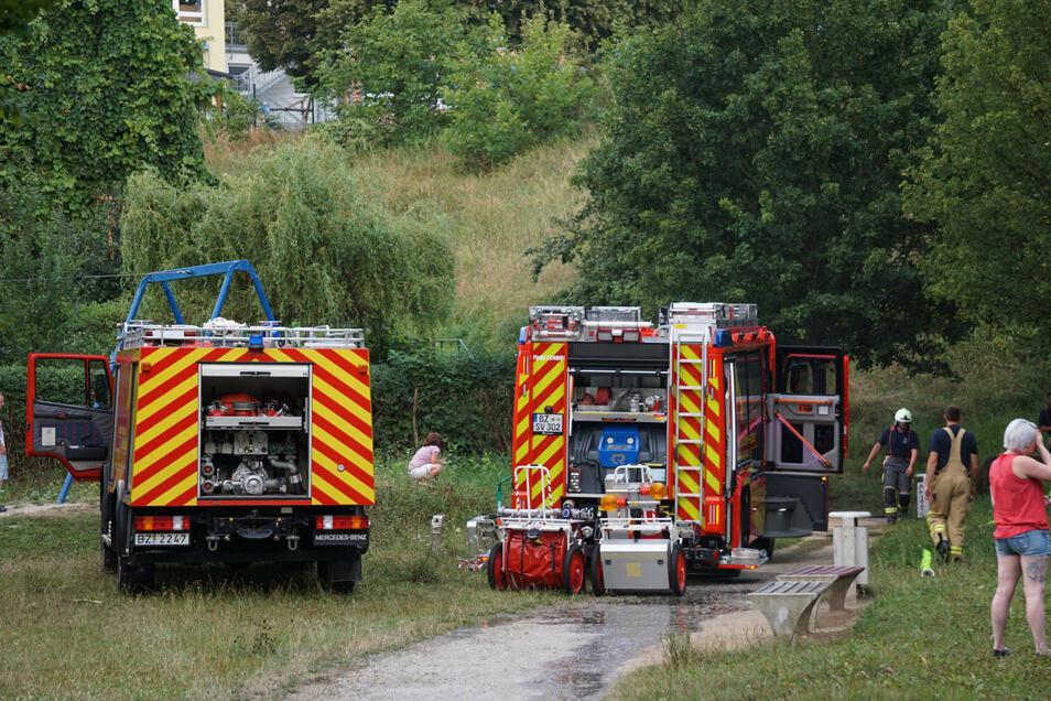 Einen Feuerwehreinsatz gab es am Sonntagabend im Bautzen Stadtteil Gesundbrunnen.
