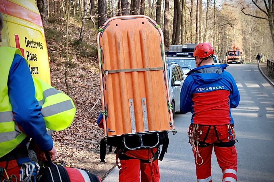 Die Bergwacht eilte zu Hilfe.