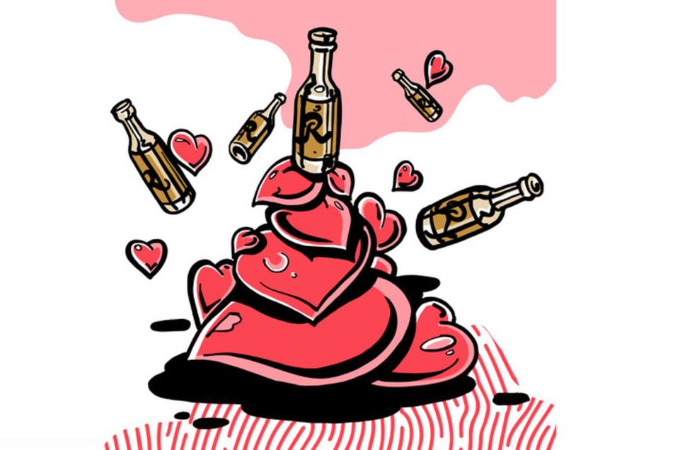 Was mag wohl in dieser Flaschenpost gewesen sein? Liebesgrüße aus Radeberg offenbar. Das schreibt Thomas G. in seinem Vorschlag zum Thema Heimat. Zeichnung;Capstan & Tulip