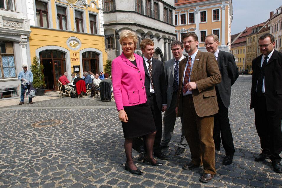 Berühmte Gäste empfang er regelmäßig in Görlitz: Hier die Präsidentin des Bundes der Vertriebenen, Erika Steinbach.